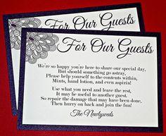 Image result for wedding bathroom basket sign