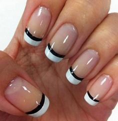 nails french tip / nails french - nails french tip - nails french ombre - nails french design - nails french manicure - nails french tip color - nails french tip with design - nails french tip glitter French Nails, French Nail Polish, French Manicure Nail Designs, Nail Art Designs 2016, Gel Nail Designs, White Polish, French Manicures, Nails Design, French Pedicure