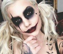 Inspiring image makeup, harleyquin, makeuphalloween #4923930 by LuciaLin - Resolution 480x459px - Find the image to your taste