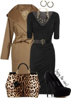 """Black & Brown contest entry #3"" by enjoytheview ❤ liked on Polyvore"