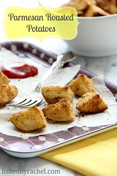Parmesan Roasted Potatoes Recipe from bakedbyrachel.com Easy enough to make ahead and freeze for weeknight dinners