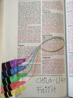 Matthew 18:3--Bible art journaling challenge   Child-like faith is simple but not easy.