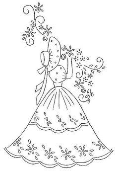 Bonnet Lady Crinoline Belle: