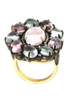 Tourmaline & Diamond ring - 0.59 ctw from HauteLook on shop.CatalogSpree.com, your personal digital mall.