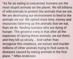 """As far as eating is concerned, humans are the most stupid animals on the planet."" - Imgur"