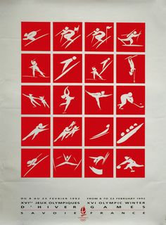 1992 Albertville Winter Olympics poster... I wonder if you can get reprints of this?