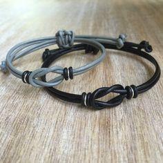 Parejas de pulsera su pulsera gris y negro que empareja