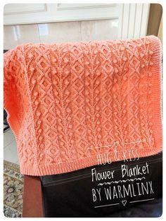 Hug & Kiss Flower Blanket Knitting PATTERN – WarmLinX