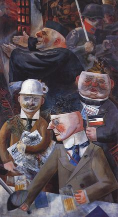 """""""Pillars of Society,"""" George Grosz (1926) (Culture - Painting/Drawing/Etching)"""