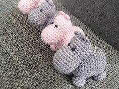 Diy Crafts - Use these cute Hippo Amigurumi Crochet Patterns to create wonderful stuffed animals with enough unique shape to make them instant favorit Crochet Hippo, Crochet Amigurumi, Amigurumi Patterns, Crochet Toys, Crochet Baby, Baby Knitting Patterns, Baby Patterns, Crochet Patterns, Cute Hippo