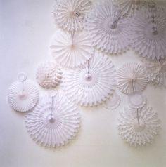 Honeycomb Crepe Paper Wedding Ceremony Decorations