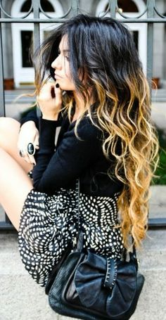 gorgeous ombre hair; In need of a new hair color. I really like the black/brown to blonde ombre