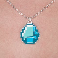 J!NX : Minecraft Diamond Pendant Necklace - Clothing Inspired by Video Games & Geek Culture