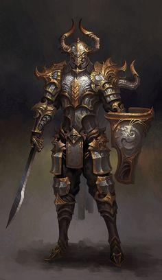 m Paladin Warrior Armor Fantasy Warrior, Fantasy Male, Fantasy Rpg, Medieval Fantasy, Fantasy Artwork, Dark Fantasy, Final Fantasy, Fantasy Character Design, Character Concept