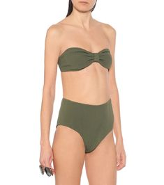 Posey Nile bikini in green Hunza G, Bandeau Top, Bikinis, Swimwear, Luxury Fashion, Tights, Legs, Green, Collection