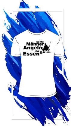 Lustiges und humorvolles, schwarzes Männer T-Shirt für jeden Angler mit Herz. Echte Männer angeln ihr Essen. Optimale Geschenkidee für jeden Fischer und leidenschaftlichen Angler, der an nichts anderes als Fische denken kann. Artwork, Humorous Sayings, Black Men, Real Men, Fishing, Cool Quotes, Work Of Art, Auguste Rodin Artwork, Artworks