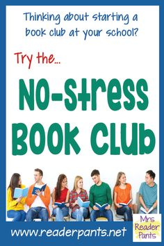 I am positive I've written about the No-Stress Book Club before, but I cannot find it anywhere on my blog. Perhaps I wrote it... Library Lessons, Library Ideas, Book Club Books, Book Clubs, Teacher Resources, Teacher Tips, Teaching Ideas, Reading Incentives, Reading Strategies