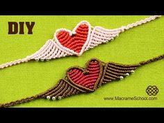 ▶ Flying Heart Bracelet Tutorial - YouTube