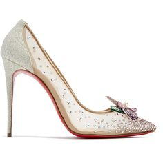 327aa8963f1f Christian Louboutin Feerica crystal-flower embellished pumps ( 1