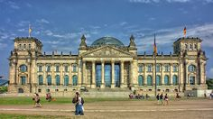 The meeting place of the German parliament: The Reichstag building in Berlin  / PeterDargatz