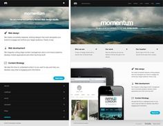 Screenshots from Momentum website showing the footer anchor solution to responsive navigation Responsive Site, Responsive Web Design, Navigation Bar, Cool Websites, Anchor, Layout, Patterns, Block Prints, Page Layout