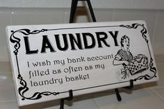 Laundry Wooden Sign  Perfect Gift Funny Sign gift by SammyandEva, $22.00