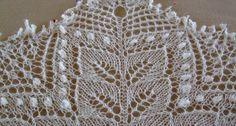 Berkanan Shawl/ Pattern by Anne-Lise Maigaard/ Printed