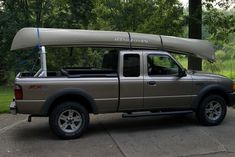 PVC Pick Up Truck Rack for canoe or kayak. such a good idea ...