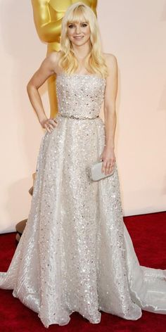 Academy Awards 2015 Red Carpet Arrivals - Anna Faris from #InStyle