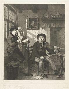 Lambertus Antonius Claessens   Twee mannen en een vrouw maken muziek in interieur, Lambertus Antonius Claessens, Adriaan de Lelie, c. 1792 - 1834   In een huiskamer musiceren twee mannen en een vrouw met elkaar. De vrouw zingt, een man speelt viool de ander schalmei. Door het raam links schijnt licht op het muziekblaadje van de vrouw.