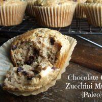 Chocolate Chip Zucchini Muffins {Paleo}