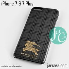 Burberry Black Label Phone case for iPhone 7 and 7 Plus