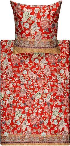 Wunderbare Bettwäsche »Tiepolo« der Marke Bassetti. Was für ein Anblick - die kräftigen Farben und die hübschen Blüten vereinen sich zu einem absoluten Hingucker-Design. Der zarte Glanz, der Mako-Satin Qualität, wertet die Bettwäsche zusätzlich auf. In dem Stoff aus 100% Baumwolle werden Sie sich außerdem rund um wohl fühlen, da dieser hautfreundlich ist und sich herrlich weich anfühlt. Mit Hil...