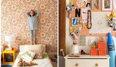 People – Annie Schlechter   vintage wallpaper in kids room
