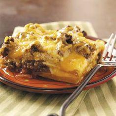 Tortilla Lasagna Recipe from Taste of Home -- shared by Lynn Smith of Warrensburg, Missouri