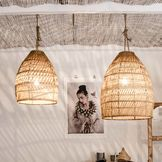 This amazing lantern is a real eye-catcher to living room, bedroom, kitchen or terrace. Handcrafted by artisans of seagrass with a metal structure.