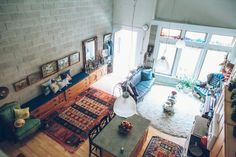 Darren is an opera singer and his fiancé Adrian is an investor. After much compromise (and thrifting, hoarding, purging, pleading and coercing), they've created a loft they both love to call home. Their home in Ann Arbor is 1,400 square feet.