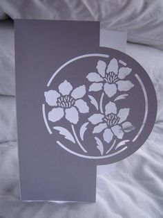 Over The Edge Cards / Card Templates / Cutting Files Stencil Patterns, Stencil Art, Kirigami, Paper Cutting, Paper Pot, Laser Paper, Paper Engineering, Pop Up Cards, Flower Making