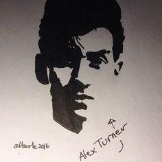 m.albertekrarup/2016/10/24 16:19:33/Alex Turner #alexturner #drawing #stencil #sketch #graffitistencil