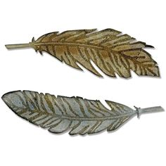 Sizzix Tim Holtz Bigz Feather Duo Texture Fades 2 Pack
