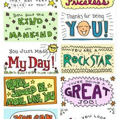 Lunch Box Notes & Kindness Cards...my little girls will love to do this for their Daddy