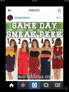 Football season is almost here.  I'm so excited!!!  Look at these amazing Game Day outfits available over at @shopkikilarue!