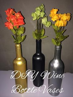 Upcycle- DIY Wine Bottle Vases
