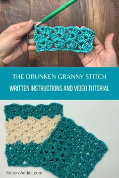 Here's a quick video tutorial on how to make the drunken granny stitch. It's a beginner friendly crochet stitch to make a endless number of projects with. Crochet Stitches For Beginners, Crochet Stitches Patterns, Crochet Videos, Crochet Basics, Knitting For Beginners, Start Knitting, Easy Knitting, Different Crochet Stitches, Crochet Stitches For Blankets