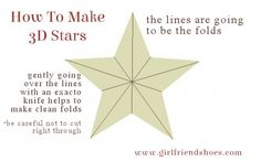 How To Make 3D Stars Out Of Cereal Box | DIY Barn Stars - Girlfriends Are Like Shoes