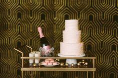 Blush sweets on Bar Cart by Layered Bake Shop