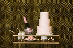 Blush sweets on Bar Cart by Layered Bake Shop
