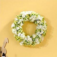 The Seasonal Aisle Kranz Hydrangea 53 cm Door Wreaths, Hydrangea, Beautiful Homes, Floral Wreath, Wall Decor, Seasons, Home Decor, Rattan, Material