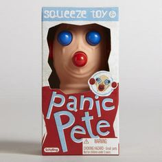 Panic Pete Squeeze Toy  'Gifts & Accessories'  Need to buy a gift for someone that has everything?  Panic Pete is the perfect fit for anyone's hand!