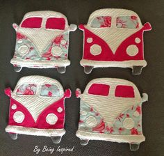 Handmade VW Campervan Coasters